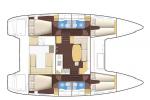 Isabella Yachts - Lagoon 400 layout