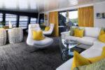 Isabella Yachts: Rodriguez 135ft - yellow lounge
