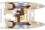 Isabella Yachts : Lagoon 450 - SHANA Layout